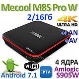 Тв-приставка MeCool M8s pro w 2Gb/16Gb (андроїд тб, смарт тв, TV BOX, медіаплеєр) X96, W95, фото 3