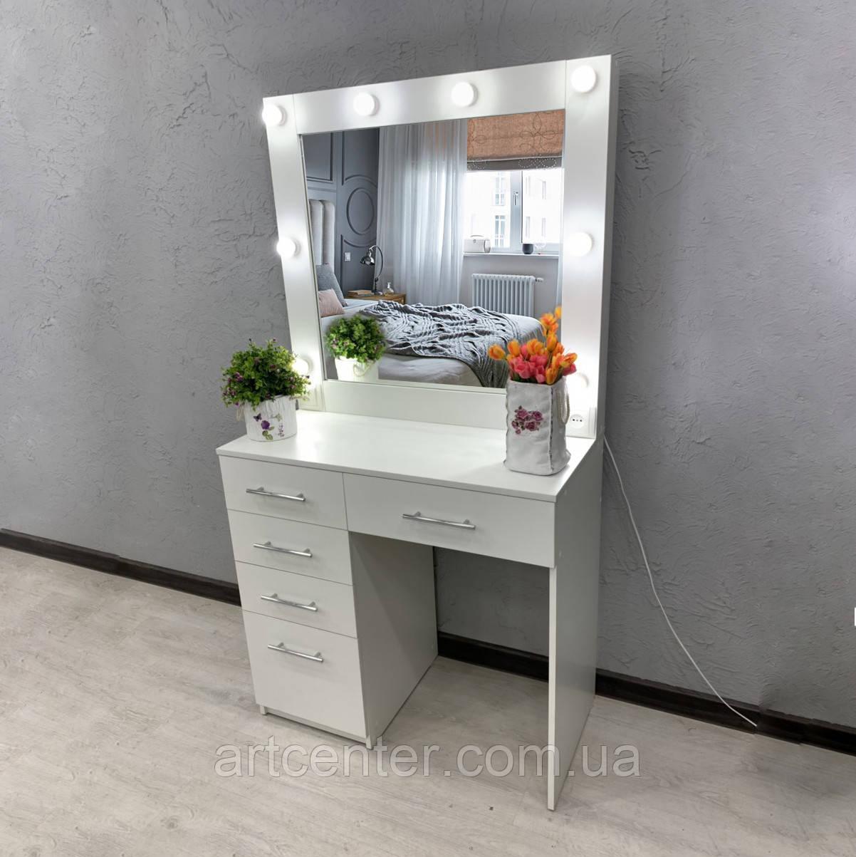 Удобный визажный столик, стол для визажиста, туалетный столик