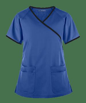 Медицинская блуза (женская) /UA Flex Raglan Mock Wrap Contrast Trim Scrub Top