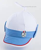 Кепка для мальчиков Ванечка бело-голубая
