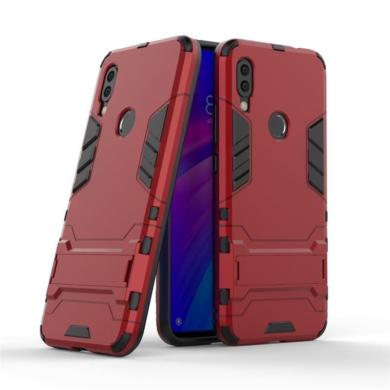 Чехол для Xiaomi Redmi 7 Hybrid Armored Case красный
