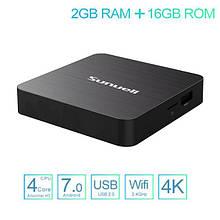 Тв-приставка Sunvell H3 4K 2Gb/16Gb (андроїд тб, смарт тв, TV BOX, медіаплеєр) X96, W95
