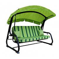 Садовые качели (диван-качели)  TRIPOLI зеленый (тексилк) Италия Primilla Бесплатная доставка!