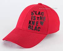 Бейсболка красного цвета Black&White с черной надписью