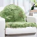 Овечья шкура зеленая, крашеная, фото 3