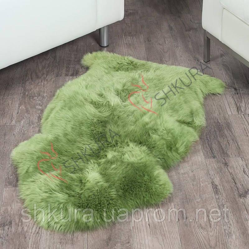Овечья шкура зеленая, крашеная