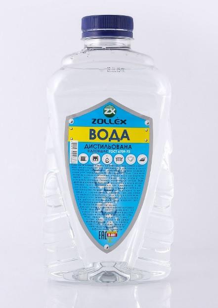 Вода дистиллированная 1л Zollex