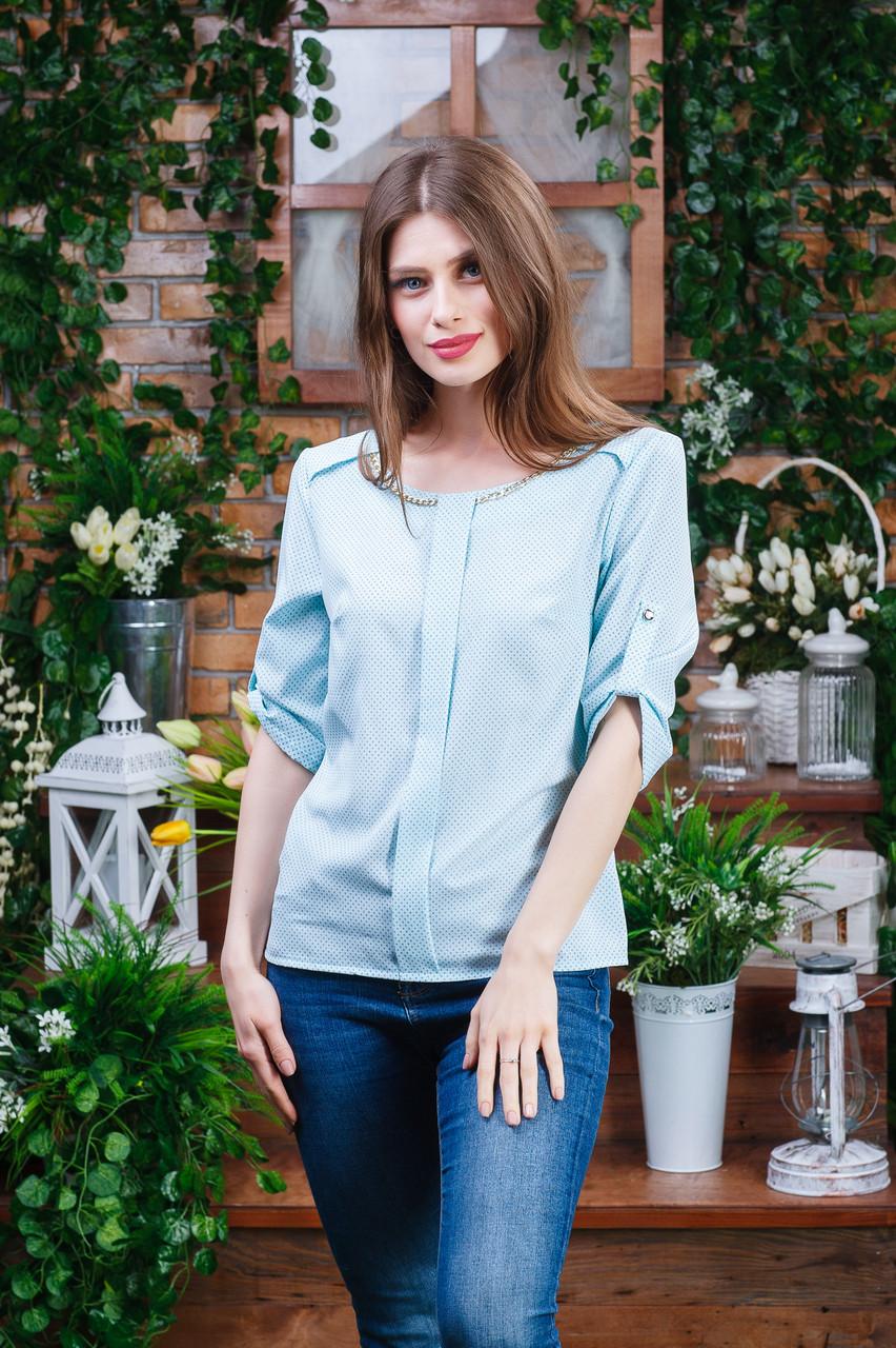 Летняя блуза голубая Бл-6102