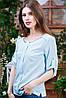 Летняя блуза голубая Бл-6102, фото 2