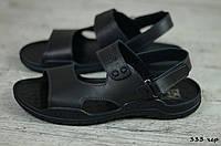 Мужские кожаные сандалии Cardio  (Код: 333 чер) ► [43]