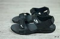 Мужские кожаные сандалии Nike (Реплика)  (Код: М-2 ) ► [40,41,42,43,44,45]