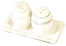 Набір для спецій: сільничка та перечниця,  кераміка, на підставці