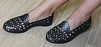 Versace ! Стильные женские летние кожаные балетки туфли натуральная кожа, фото 1