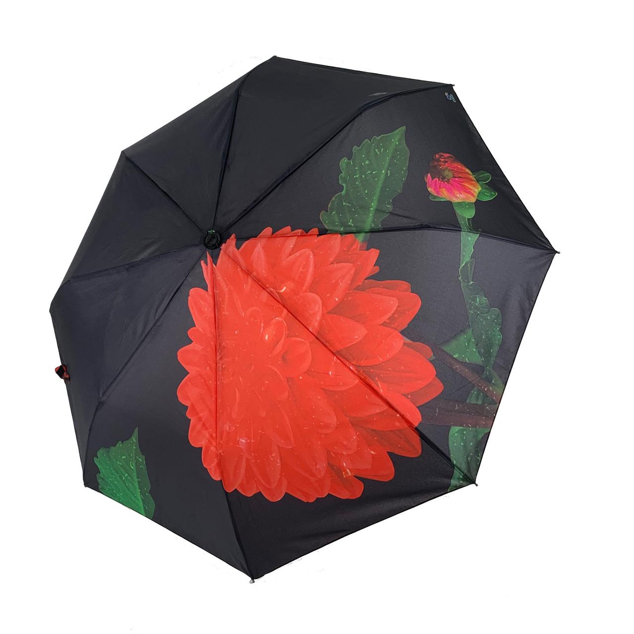 """Женский зонт-полуавтомат Swifts """"Георгина"""" черный цвет, 18035-1"""