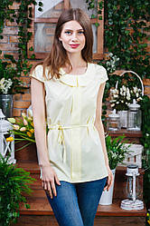 Летняя блуза жёлтого цвета Бл-6271
