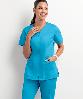 Медицинская блуза (женская) / UA Butter-Soft STRETCH Scrubs Smooth Face Zipper Top, фото 3
