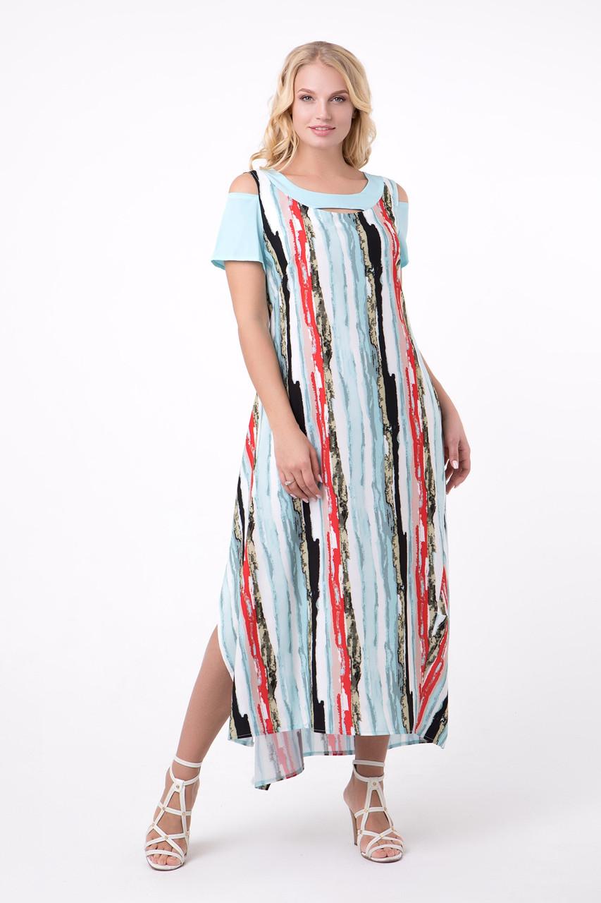 Платье Анэт 50-56 голубой
