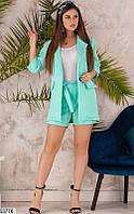 Летний женский костюм тройка шорты+пиджак+майка габардин 42-46 размеров, 5 цветов