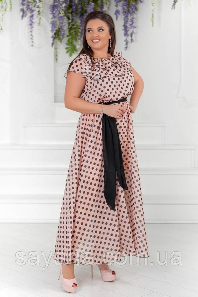 женское платье большого размера
