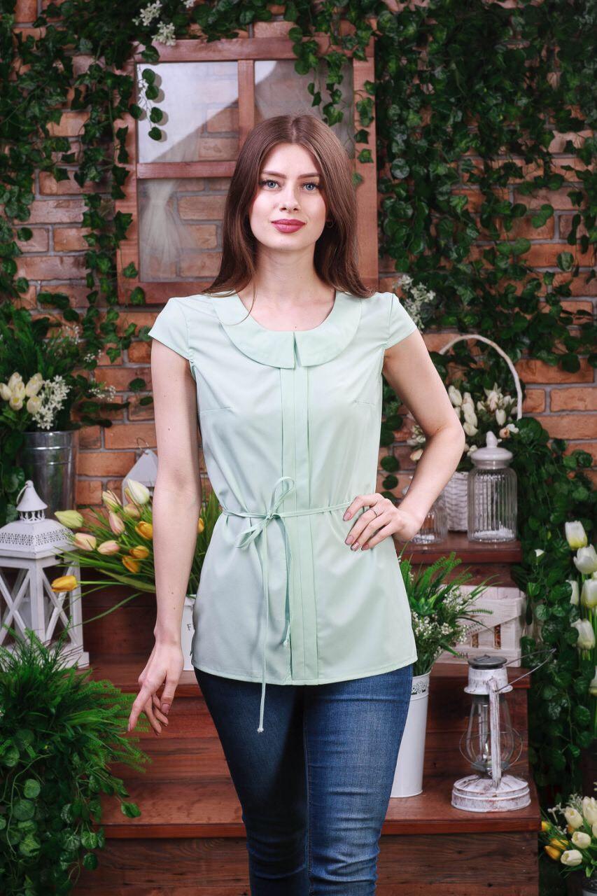Летняя блуза молочного цвета Бл-6270