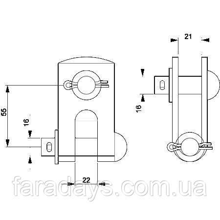 Композитний натяжний ізолятор SO90.* Ensto SH195