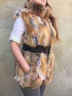 Женский  жилет из меха рыжей лисы., фото 1