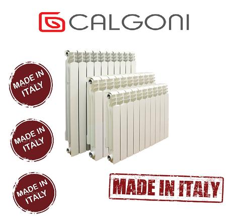 Радиатор алюминиевый отопления (батарея) 500x96 Calgoni Alpa PRO (боковое подключе) (Италия), фото 2