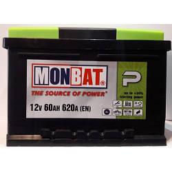 """Аккумулятор Monbat 6СТ-60 SMF P  (60 Ач, 620 А, """"+"""" справа)"""