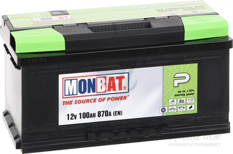 """Аккумулятор Monbat 6СТ-100 SMF P  (100 Ач, 870 А, """"+"""" справа)"""