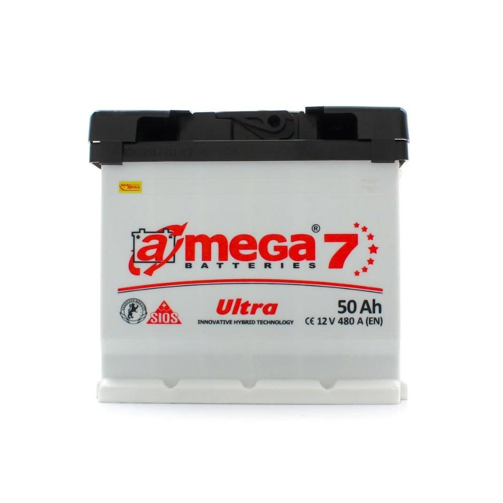 """Аккумулятор A-Mega (6 СТ-50-АЗ 480 А; """"+"""" слева ) Ultra M7"""