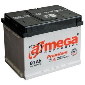 """Аккумулятор 6 СТ-60-А3  A-mega Premium ( 60 Ач, 600 А, """"+"""" справа) М5"""