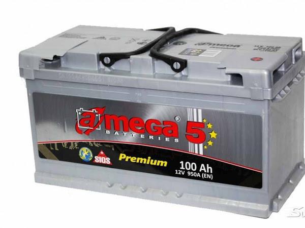 """Аккумулятор 6 СТ-100-А3  A-mega Premium ( 100 Ач, 950 А, """"+"""" справа)  М5"""