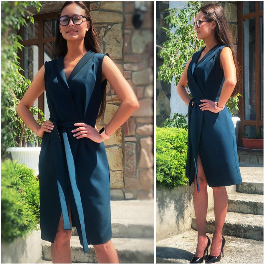 Изумрудное летнее платье халат Elly (Код MF-438)