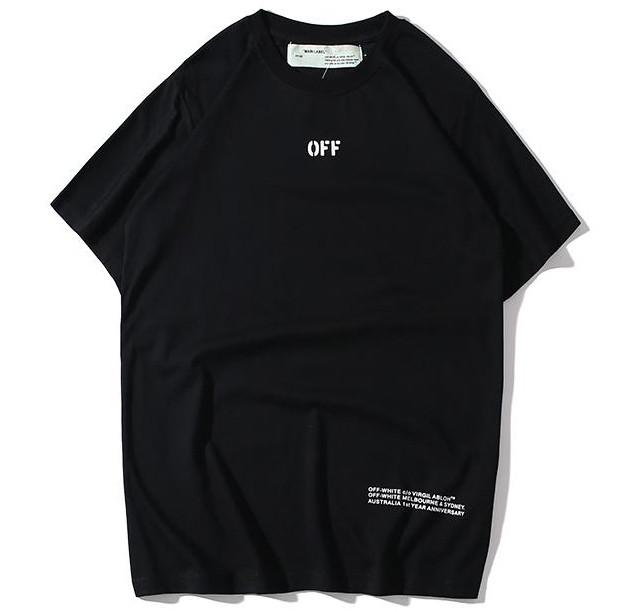 Светоотражающая футболка Off white Reflective чёрная (офф вайт со светоотражающими стрелками)