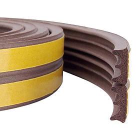 Уплотнитель самоклеящийся Technics тип Е коричневый 150 м (10-775)