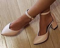 Комфортные туфли Limoda из натуральной кожи босоножки на каблуке 6 см , фото 1