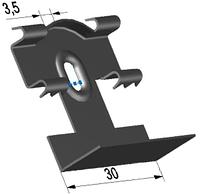 Кляймер для пластмассовых плинтусов, фото 1