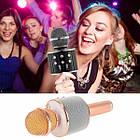 Караоке Микрофон беспроводной Wster WS 858 GOLD ЗОЛОТО Качество! Наушники EarPods в подарок!, фото 2