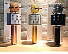 Караоке Микрофон беспроводной Wster WS 858 GOLD ЗОЛОТО Качество! Наушники EarPods в подарок!, фото 10