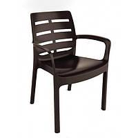 Кресло Borneo коричневое производство Италия