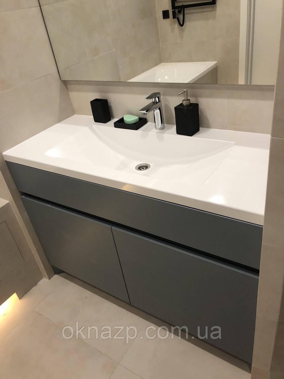 Стільниця з умивальником у ванну (литий умивальник +2700грн./шт. додатково)