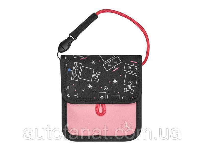 Оригинальная детская сумка на шею Mercedes Girls' Neck Pouch, Black / Pink (B66954039)