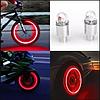 Светодиодная мигалка на ниппель колеса велосипеда , мото , автомобиля с датчиком света ( комплект 2 штуки. )
