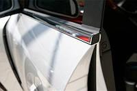 Хром молдинг стекла (оконтовка окна) Hyundai santa fe (хендай санта фе), нерж 4 шт )