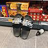 Шлепанцы Supreme чёрные (детские размеры) мужские женские, фото 6