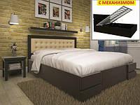 Кровать из натурального дерева Кармен с подъёмным механизмом ТМ Тис