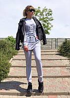 Костюм спортивный женский из двунитки со шнуровкой (К27602), фото 1