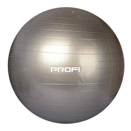 Фитбол Profi Ball 75 см. Серый (MS 1577G), фото 2