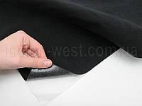 Карпет велюровый черный для авто самоклейка,  (лист 49х100 см), толщина 2.5 мм