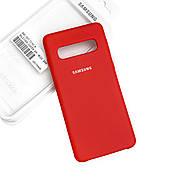 Силиконовый чехол на Samsung S10 Plus Soft-touch Red